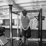 Strength and condition training with weighted chin ups