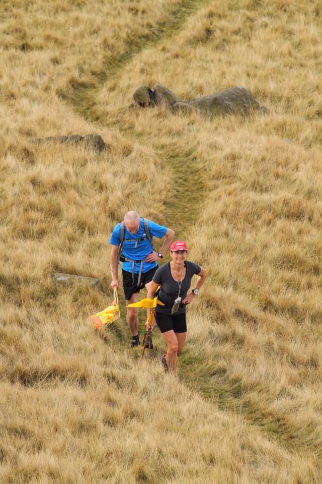 Global Therapies: Lynne helping to flag Shelf Moor fell race