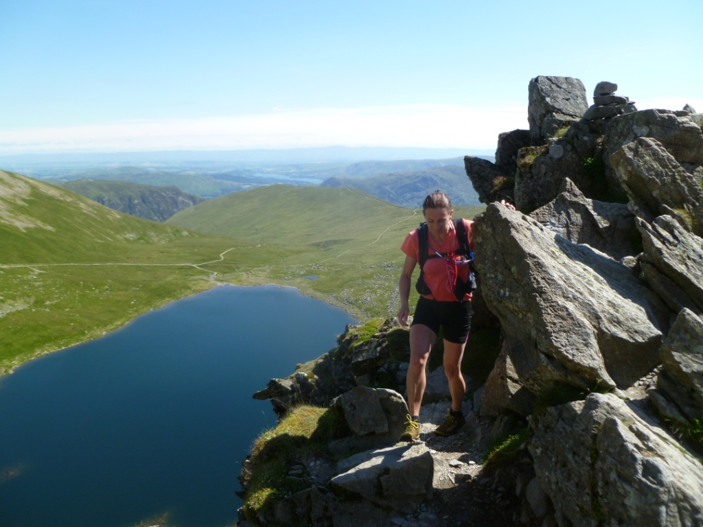 Global Therapies: Lynne on Striding Edge, Lake District