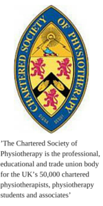 Chartered Physiotherapist Chartered Society of Physiotherapy